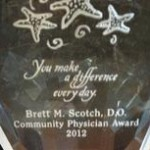 Florida Hospital Zephyrhills Community Physician Award 2012 - Dr. Brett Scotch