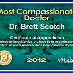 Most Compassionate Doctor Award 2012 - Dr. Brett Scotch