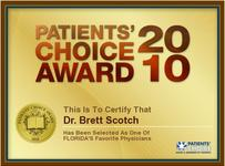 Patients Choice Award 2010 - Dr. Brett Scotch