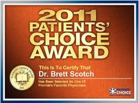Patients Choice Award 2011 - Dr. Brett Scotch